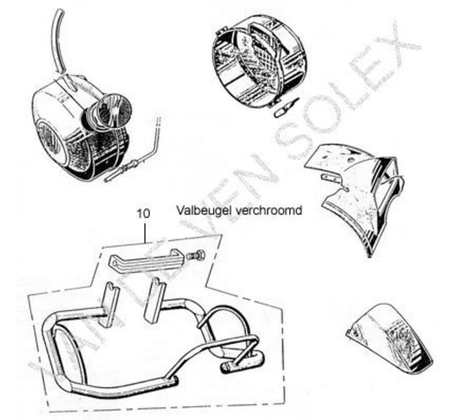 10. Motorschutzbügel verchromt Solex 3800