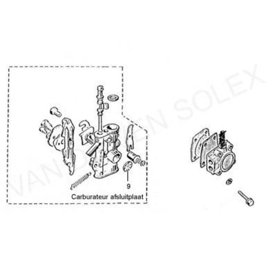 09. Carburettor closing disc / Shut-off plate Solex