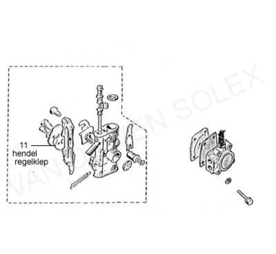 11. Regulating valve lever Solex