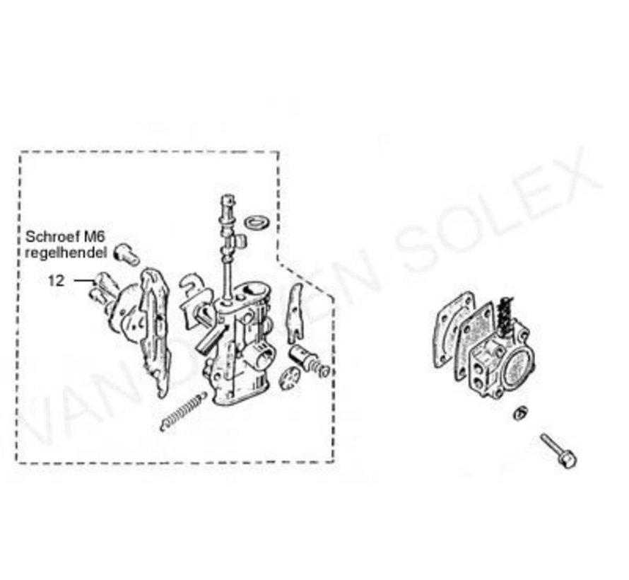 12. Schraube M6 Steuerhebel Solex