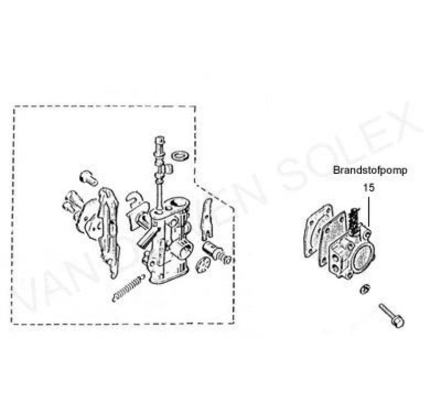 15. Binnenwerk brandstofpomp Solex