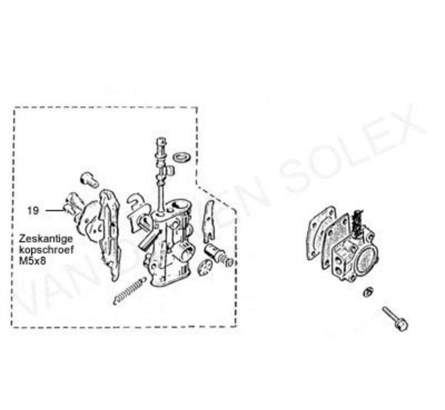 19. Kopschroef M5x8 (zeskantig) Solex