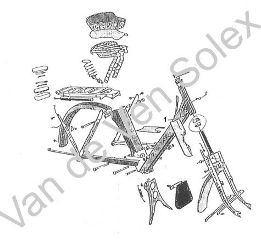 53. Satteldeck für Französischer Solex 2200-1700 braun