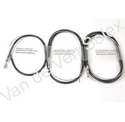 01. Cable set complete French Solex low handlebar (black)