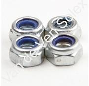 21. Moer M6 (zeskantig) voor cilinder bevestiging Solex met plastic borging