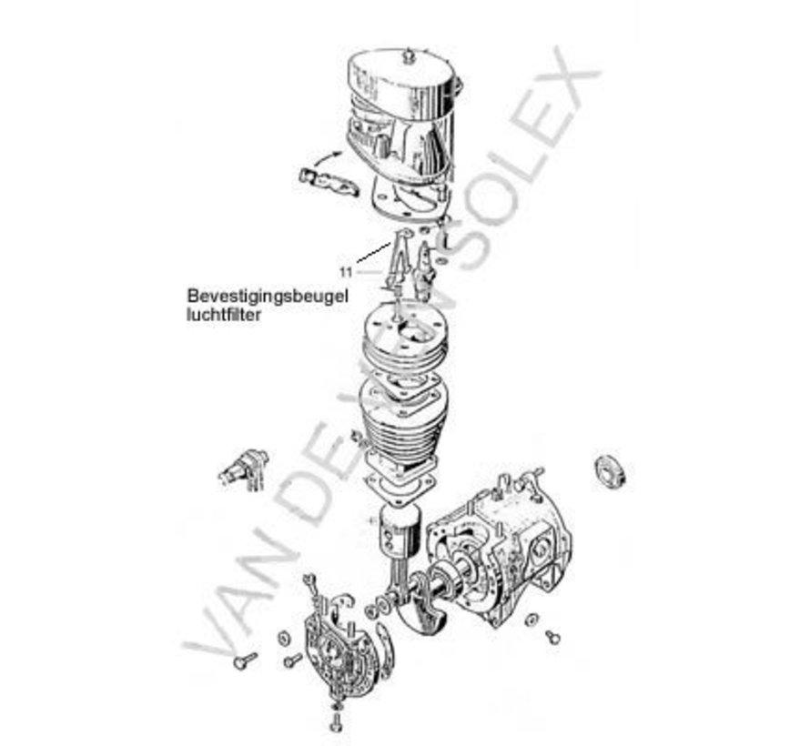 21. Mutter M6 (sechseckig) für Zylinderbefestigung Solex mit Sicherung
