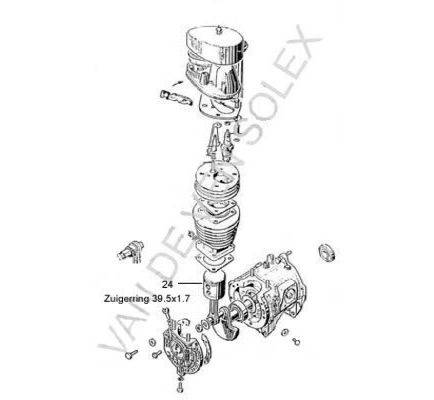 24. Zuigerring standaard Ned. Solex-2200-1700 Ø 39,5