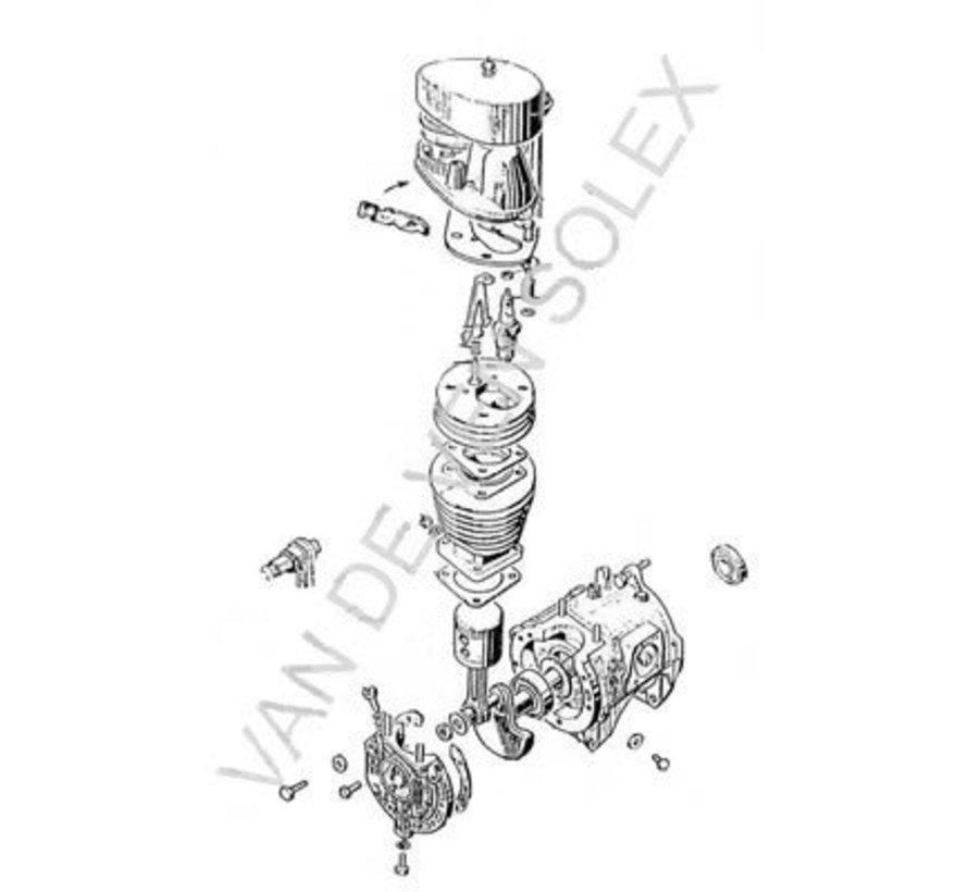 44. Motor compleet Solex (alleen gebruikte en gereviseerd)