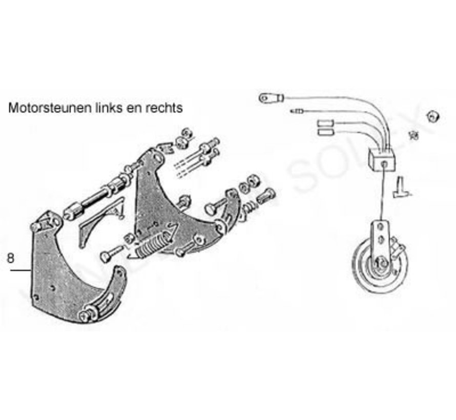 19. Locking plate / Lock plate Solex long