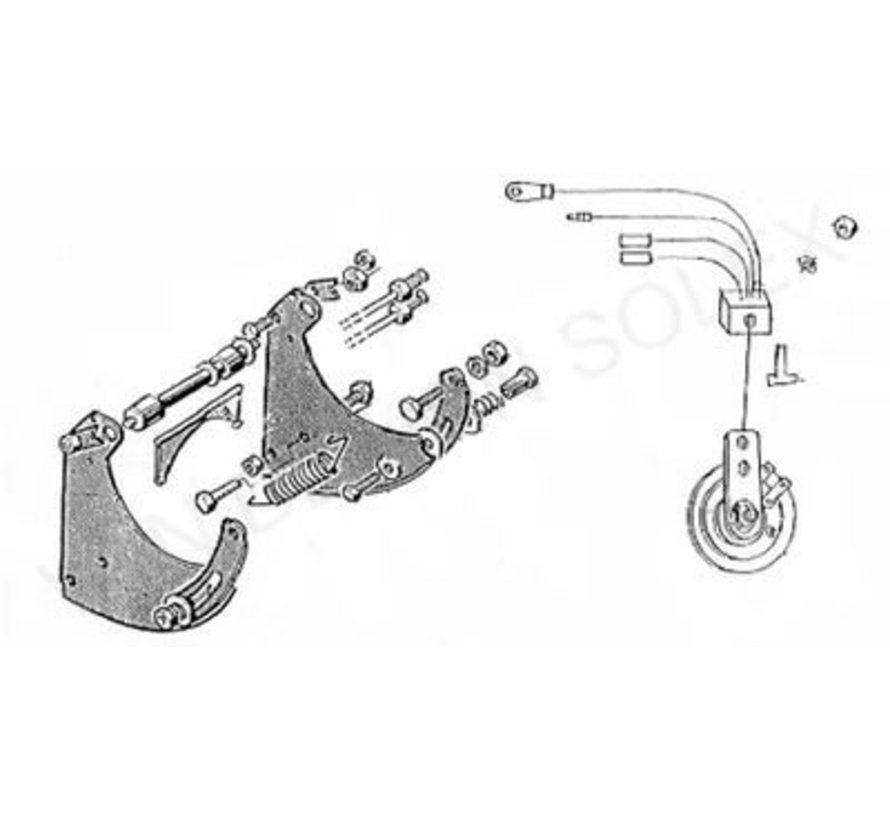 25. Engine lift out lever set for Solex 5000-3800