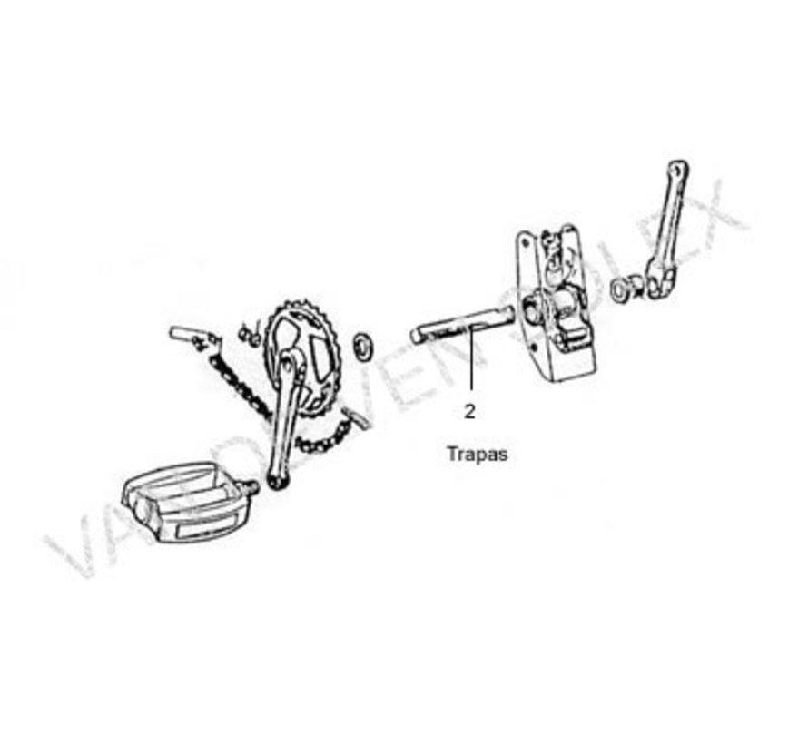 10. Voetpedalen met reflector (2stuks) / Trappers Solex