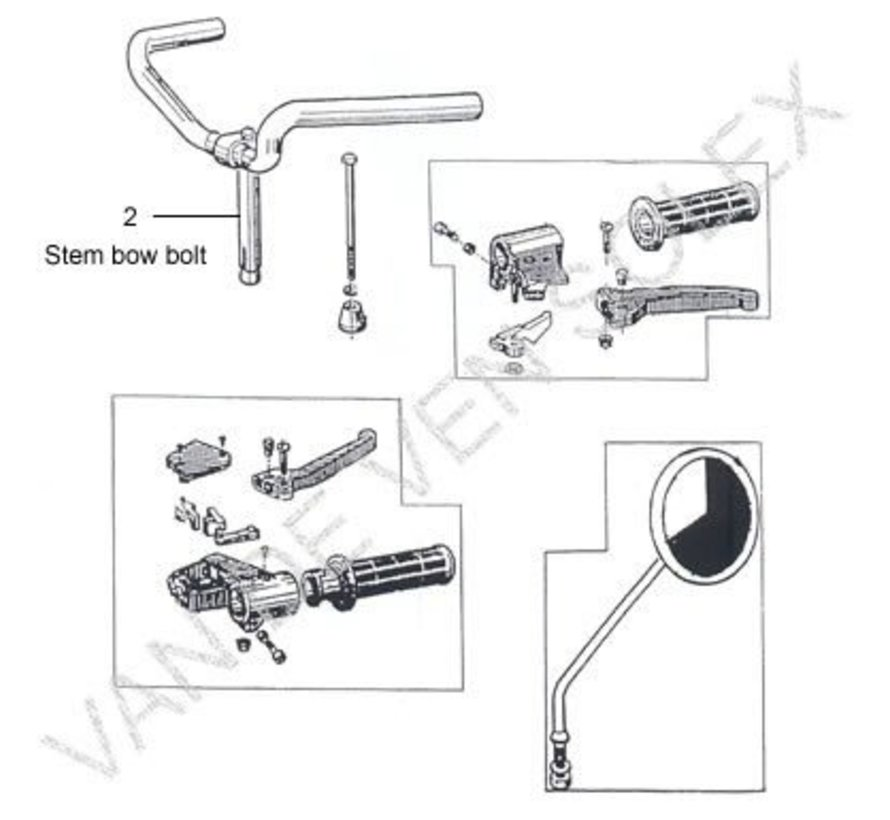 03. Right hilt complete plastic brake lever Solex