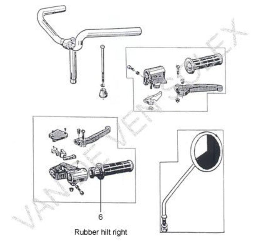 06. Rubber hilt right Solex (thick)