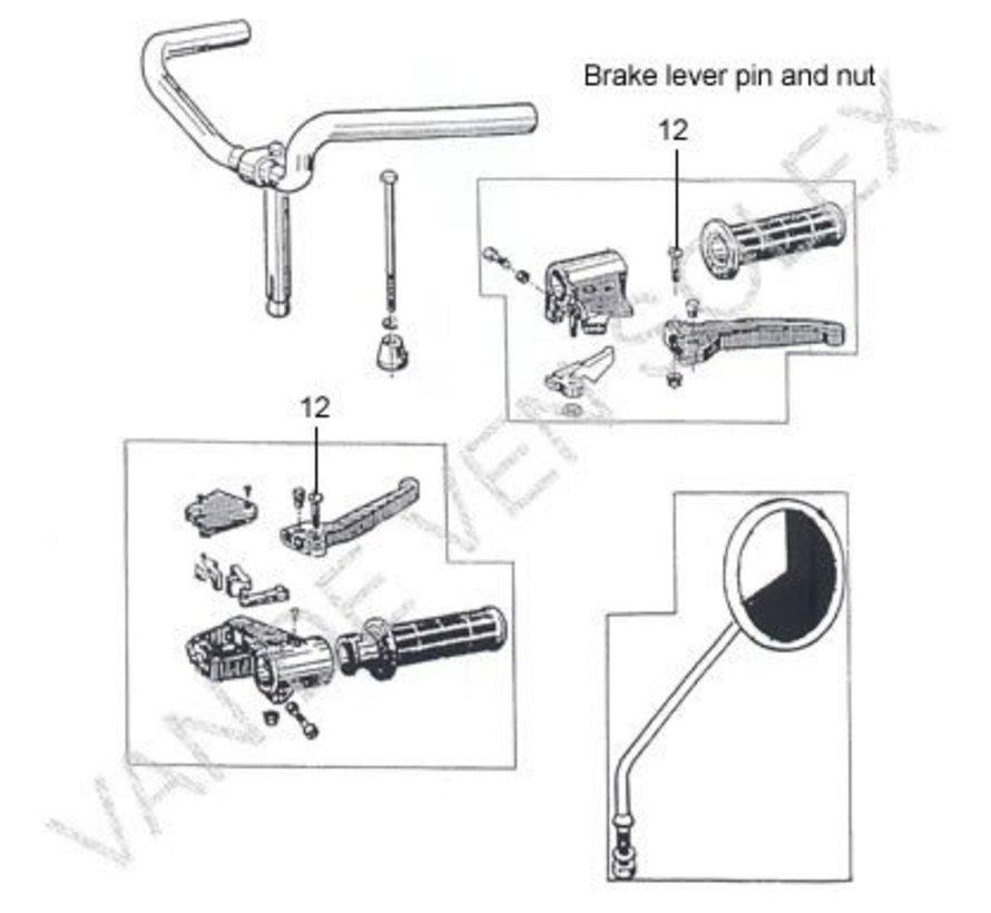 14. Aluminium brake lever left old model Solex 3800