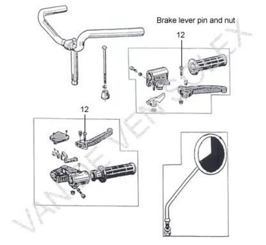 14. Brake lever suitable for both left and right Solex OTO