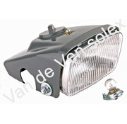 01. Koplamp compleet met fitting en peer (lampje) voor Solex 5000