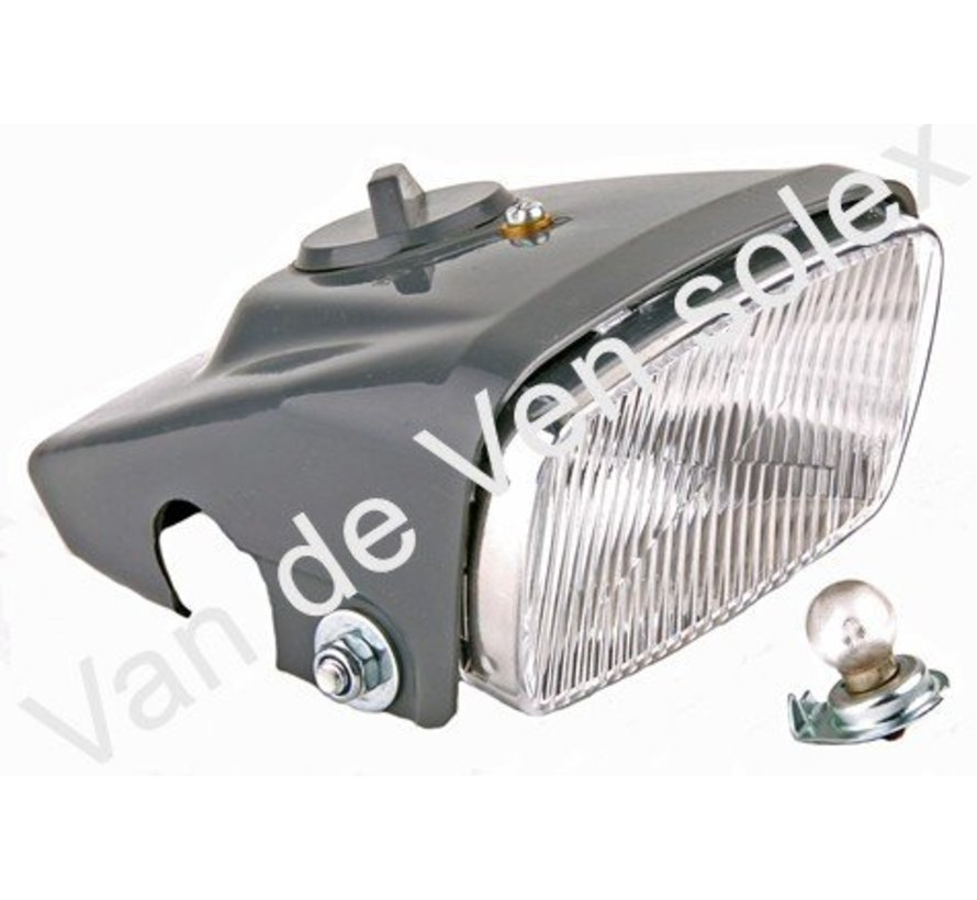 01. Headlight Solex 5000. Complete with lightcover, socket and bulb.