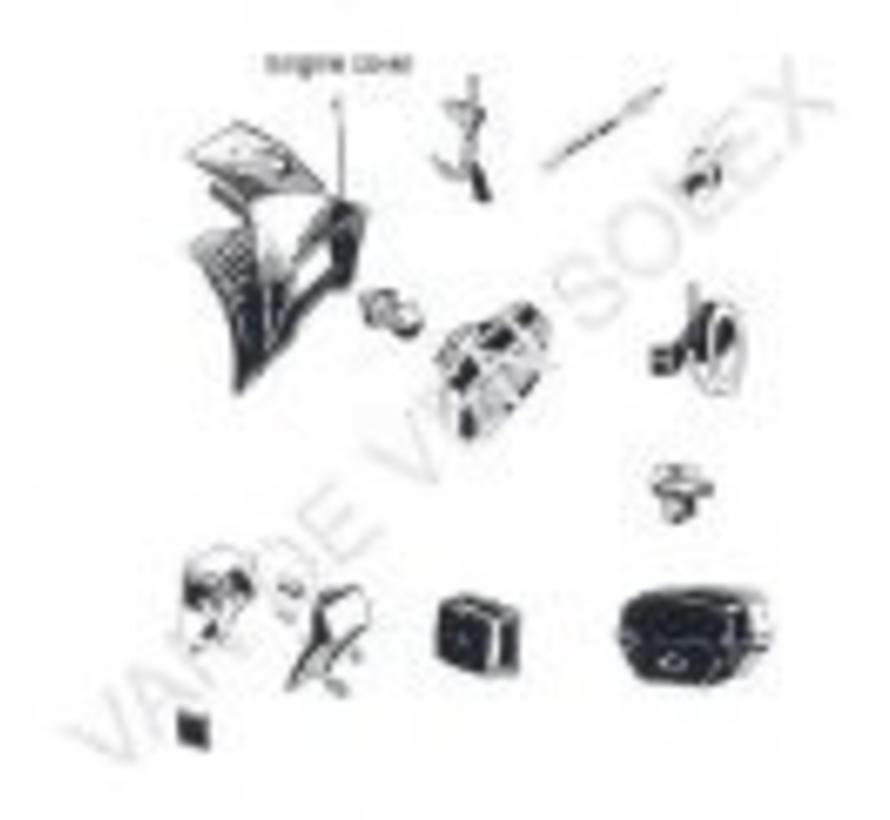 01. Lichtkap (motordeksel) Solex OTO, 2200 en 1700 zwart