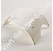 01. Tussenstuk (vervanging koplamphuis) Solex wit