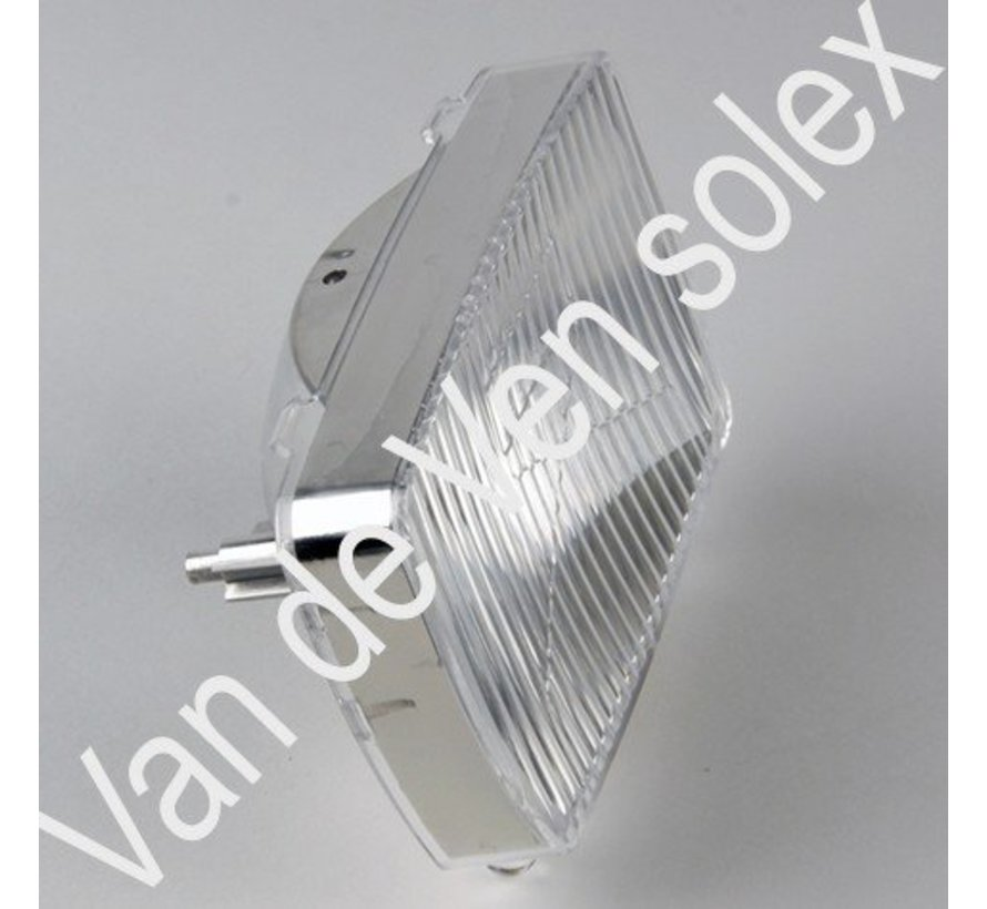 02. Plastic reflector headlight with bulb Solex 3800