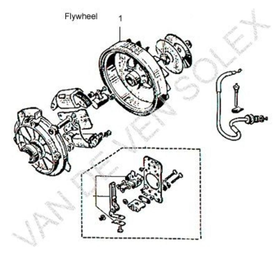 01. Making keyway in your own old flywheel Solex