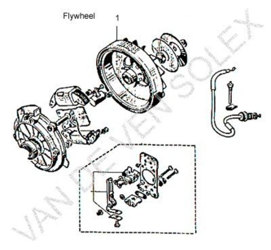 15. Metallschutz Starterscheibe Solex