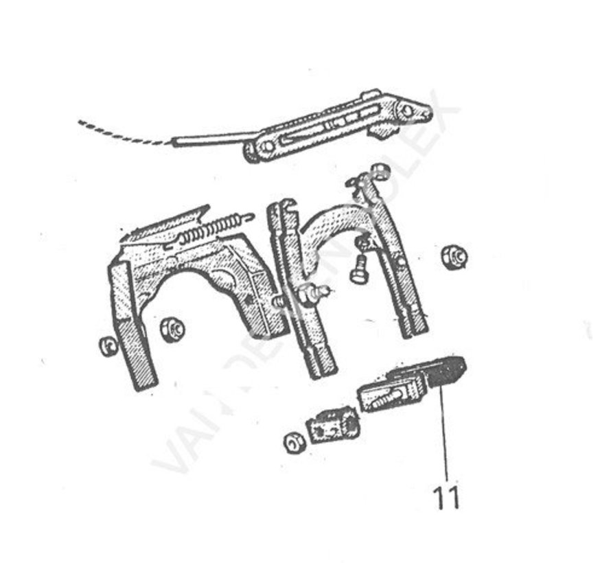 12. Remblok met houder Solex zonder steun