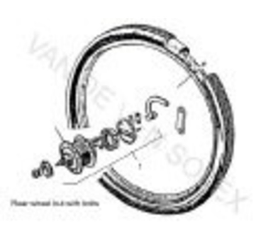 03. Brake lining rear wheel Solex Ì÷ 80 mm.