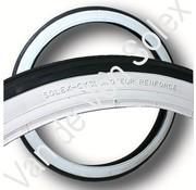 09. Buitenband 1¾ - 19 inch Solex zwart/wit