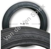 09. Zwarte buitenband 2-12 / 16x2 (54-305) Nederlandse Solex 5000
