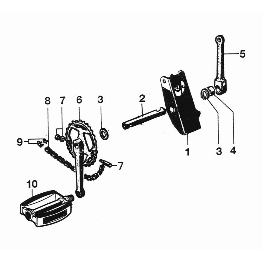 Pedal - drive chain