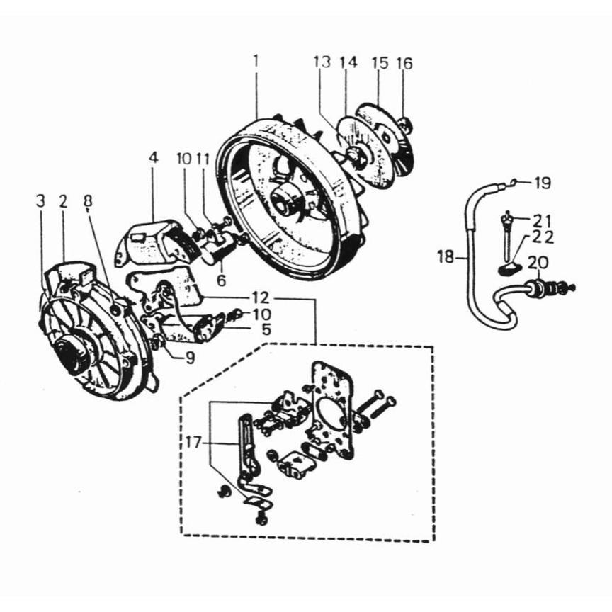 Rotor und Zündung