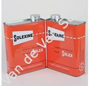 01. Reservekanister Kraftstoff Solexine rot mit niederländischem und französischem Text