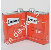 01. Spare can for fuel Solexine red with dutch and french text