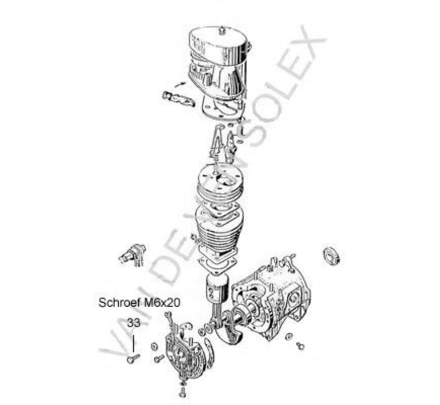 33. Unterlegscheibe M6x20 Kupfer 10 Stück Solex