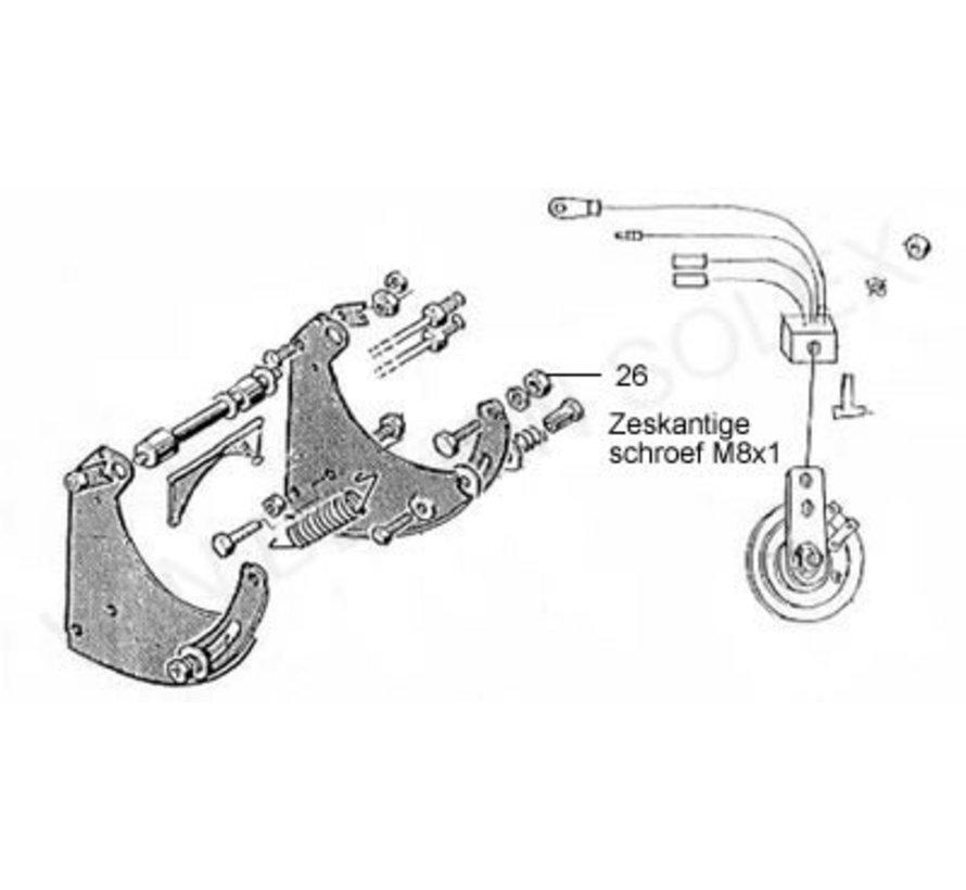 28. Kopschroef M6x20 (zeskantig) Solex