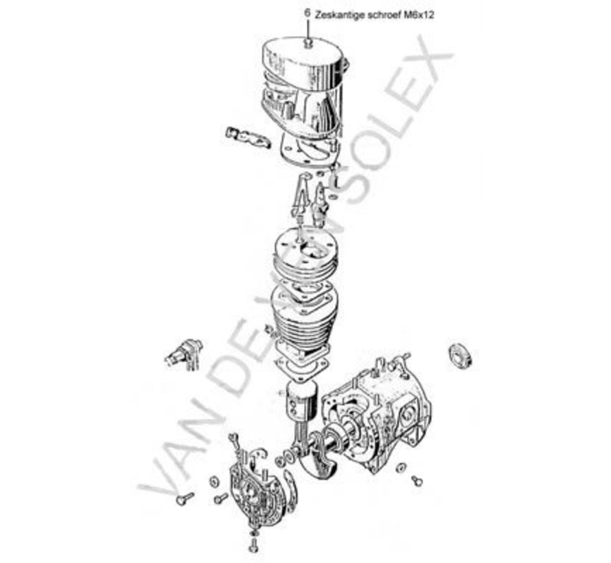 28. Head bolt M6x20 (hexahedral) Solex
