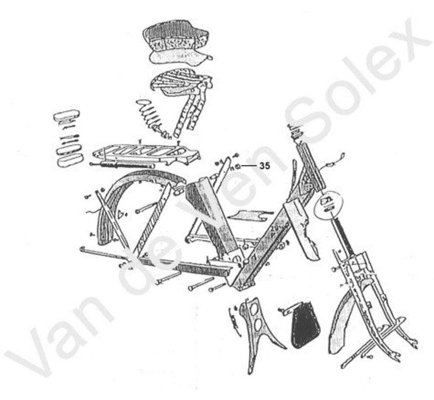 01. Upper handlebar for synthetic handgrip (Hungarian Solex)