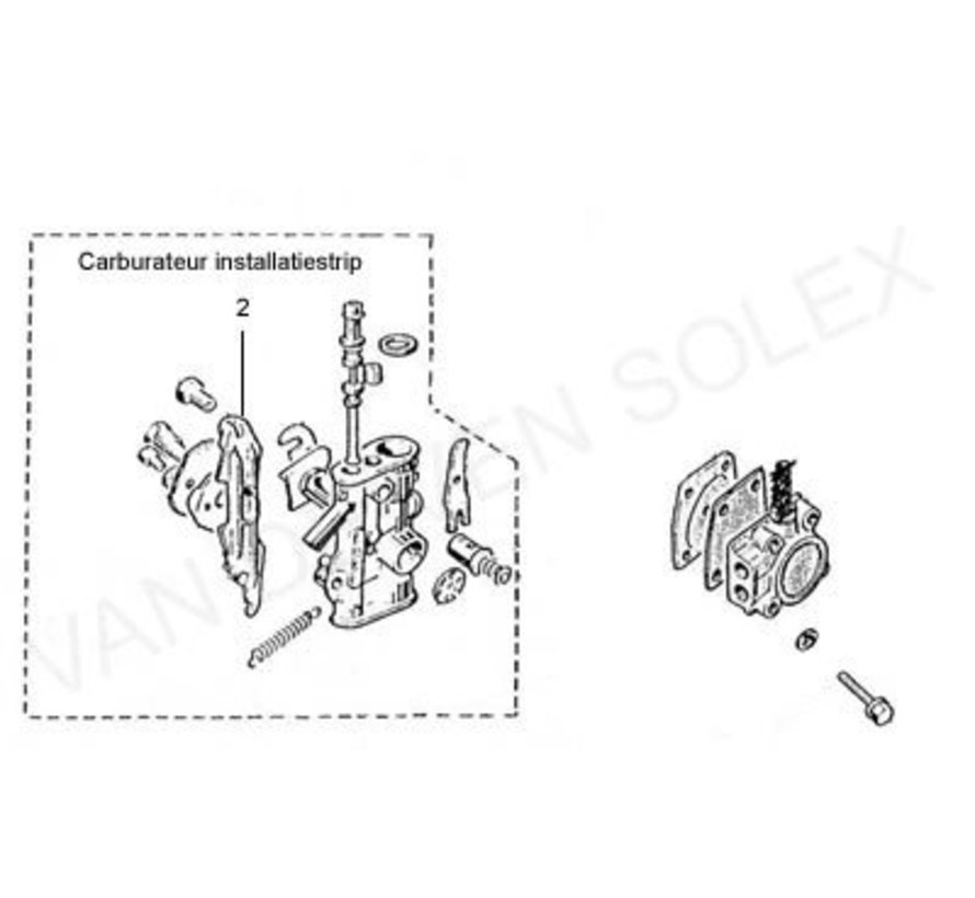 06. Brandstofleiding carburateur - pomp Franse Solex Type 2200-1700