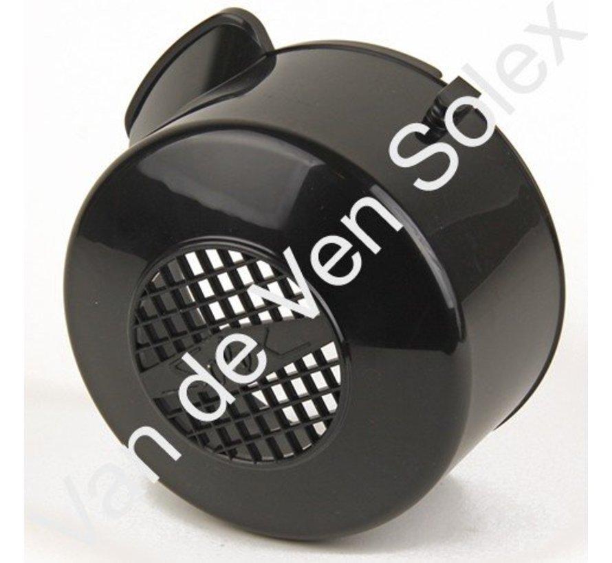 01. Tussenstuk (vervanging koplamphuis) Solex zwart