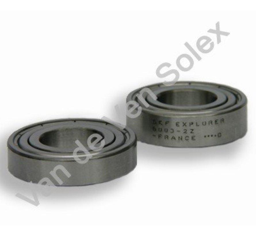 01a. Lagers aandrijfrol complete set Solex type 2200