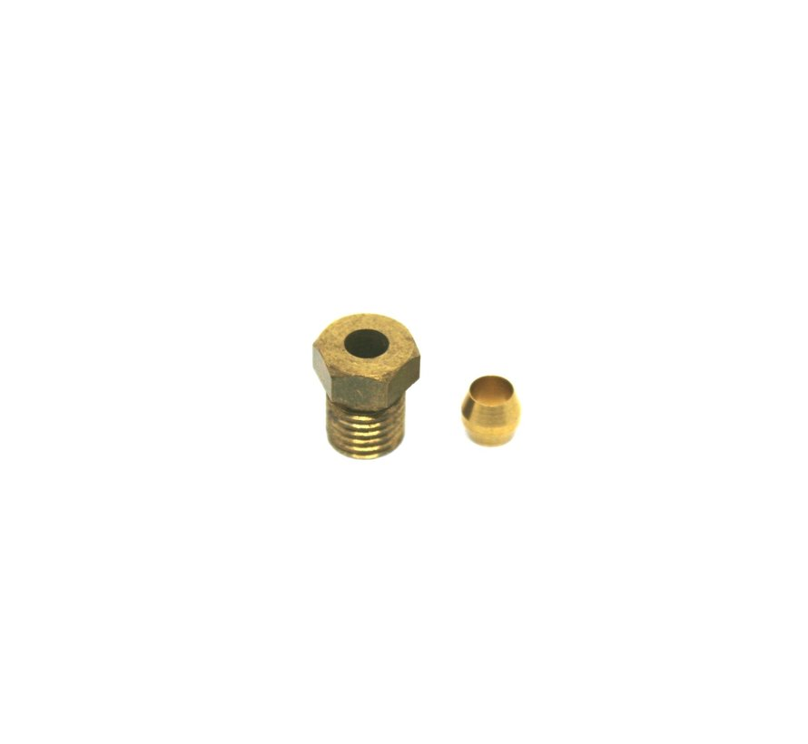 Inlet connector M8x1 with compression fitting for fuel line