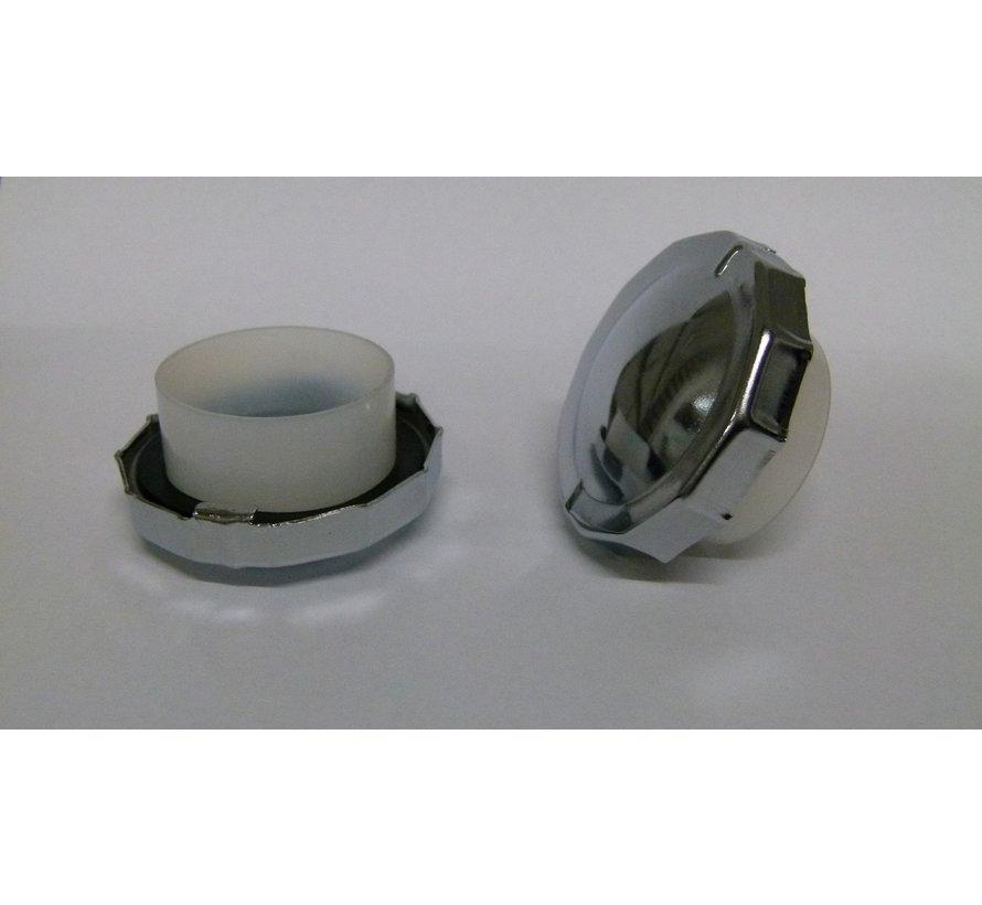 Brandstoftank Solex ijzer Zwart OTO-1700-2200-3800-5000 exclusief tankdop