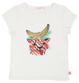 1a53b408152fec BILLIEBLUSH Billi - T-Shirt tijger en banaan - Gebroken wit