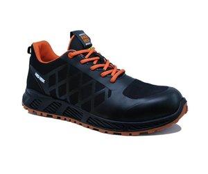 Sportieve Werkschoenen.No Risk Sooth S3 Sportieve Werkschoenen Zwart Oranje