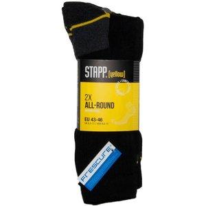 Stapp 2x All round werksokken zwart