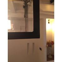 Suspension rustique en bronze 150 cm avec  verre et chaîne