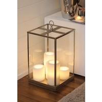 Sfeervolle tafellamp (5 kaarsen, LED, landelijk)