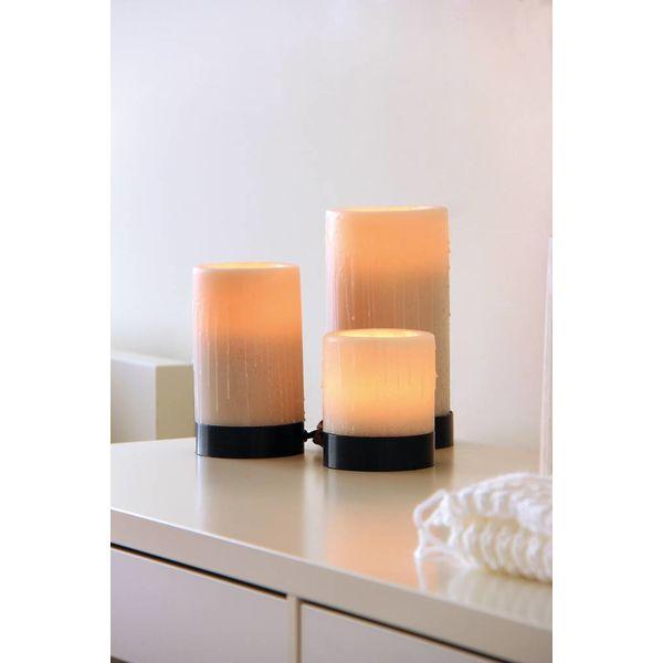 Sfeer tafellamp met kaarsen LED x 3 brons