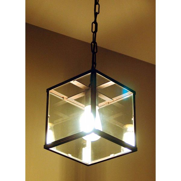 Vaak Lantaarn lamp met glas landelijk E27 met ketting - Feluce EC25